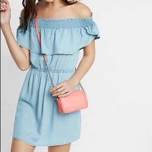 NWT Express Chambray Off the Shoulder Dress